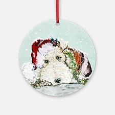 Fox Terrier Christmas Ornament (Round)