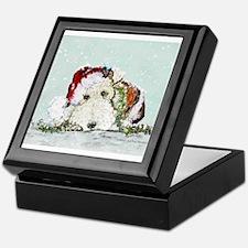 Fox Terrier Christmas Keepsake Box