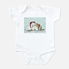 Fox Terrier Christmas Infant Bodysuit