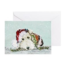 Fox Terrier Christmas Greeting Card