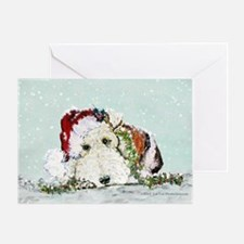 Fox Terrier Christmas Greeting Card