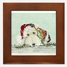 Fox Terrier Christmas Framed Tile
