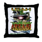Utah The New Area 51 Throw Pillow