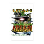 Utah The New Area 51 Rectangle Sticker