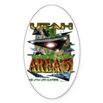 Utah The New Area 51 Oval Sticker