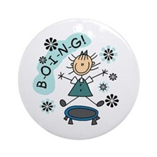 Girl on Trampoline Ornament (Round)
