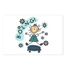 Girl on Trampoline Postcards (Package of 8)