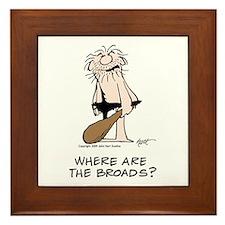 """Where are the Broads?"" Framed Tile"