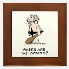 """Where are the Broads?"" Framed Tile"