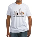 """""""I'm with Stupid"""" Fitted T-Shirt"""
