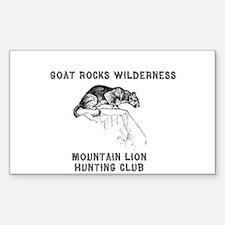 Twilight ~ Goat Rocks Mtn Lio Rectangle Decal