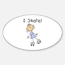 Girl I Skate Oval Decal