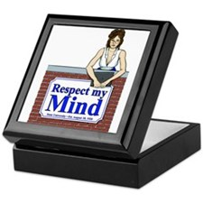 White Respect My Mind Keepsake Box
