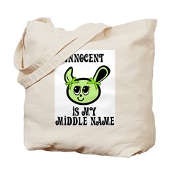 Innocent Is My Name Tote Bag