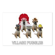Village Puggles Postcards (Package of 8)