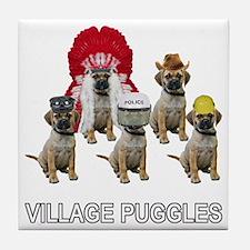 Village Puggles Tile Coaster