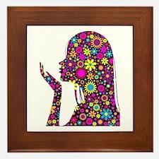 FLOWER GIRL SILHOUETTE Framed Tile