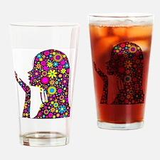 FLOWER GIRL SILHOUETTE Drinking Glass
