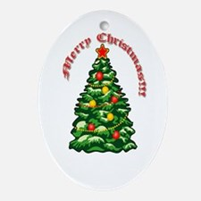 Merry Christmas Jesus Nativity Tree Ornament Oval