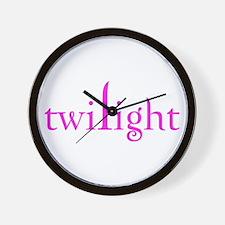 Pink Twilight Wall Clock