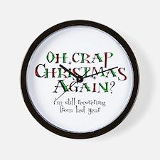Christmas Crap Wall Clock
