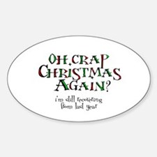 Christmas Crap Oval Decal