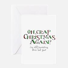 Christmas Crap Greeting Card