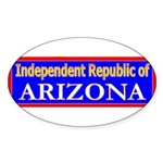 Arizona-2 Oval Sticker (10 pk)