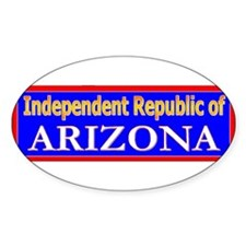 Arizona-2 Oval Decal