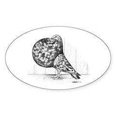 Gaditano Spanish Pouter Oval Sticker (10 pk)