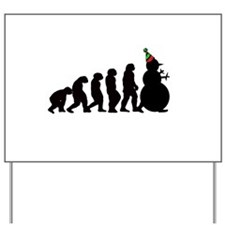 Snowman Evolution Yard Sign