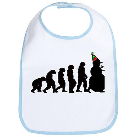 Snowman Evolution Bib