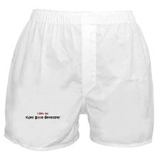 I love my Video Game Develope Boxer Shorts