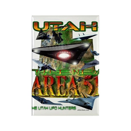 Utah The New Area 51 Rectangle Magnet