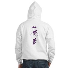 Triathlon Sports (Vertical) Hoodie