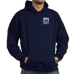 Color Logo on Navy Hoodie
