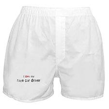 I love my Race Car Driver Boxer Shorts