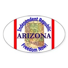 Arizona-3 Oval Decal