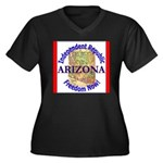 Arizona-3 Women's Plus Size V-Neck Dark T-Shirt