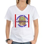 Arizona-3 Women's V-Neck T-Shirt