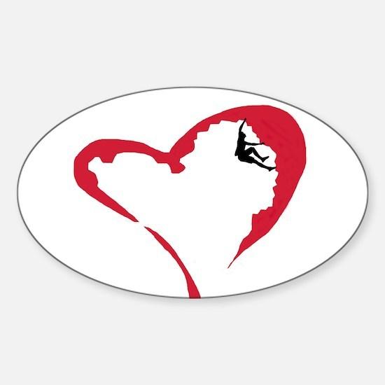 Heart Climber Oval Decal