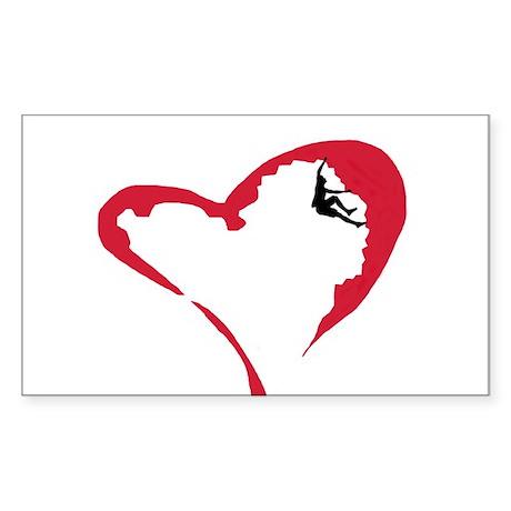 Heart Climber Rectangle Sticker