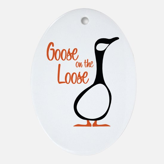 New Goose Oval Ornament
