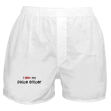 I love my Police Officer Boxer Shorts