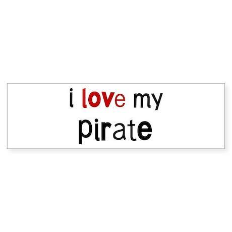 I love my Pirate Bumper Sticker