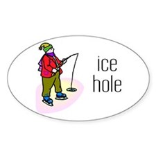 Ice Hole Oval Decal