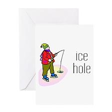 Ice Hole Greeting Card