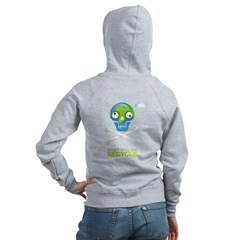 Don't kill me. Recycle Earth Zip Hoodie