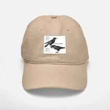 Crow vs. Raven Baseball Baseball Cap