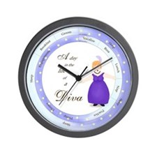 A Day in the Life of a Diva Wall Clock